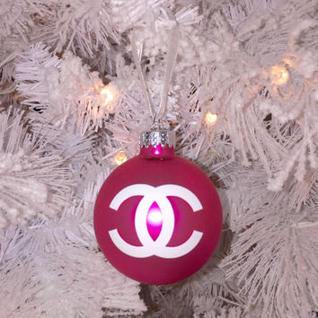 Pink CC Coco Christmas Tree Ornament