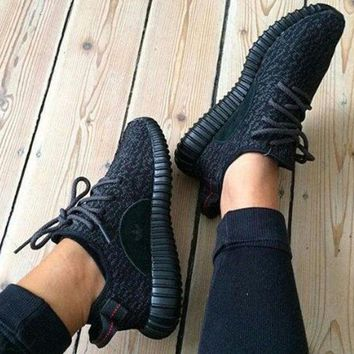 """Adidas"" Fashion Casual Women Yeezy Boost Sneakers Running Sports Shoes Black G"