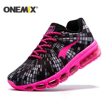 ONEMIX 2017 spring new Running Shoes for women cushion sneaker outdoor sport shoes