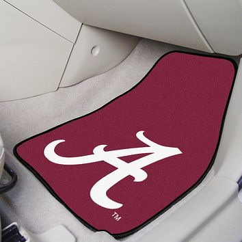 "Alabama 2-pc Carpeted Car Mats 17""x27"""