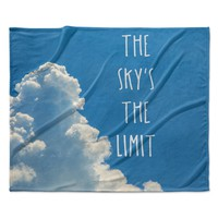 "Bruce Stanfield ""The Skys The Limit Square"" Typography Nature Fleece Throw Blanket"