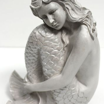 Thoughtful White Mermaid