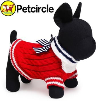 petcircle hot sale pet dog cat clothes navy winter dog sweater small and large dog sweaters for chihuahua knit dog sweater