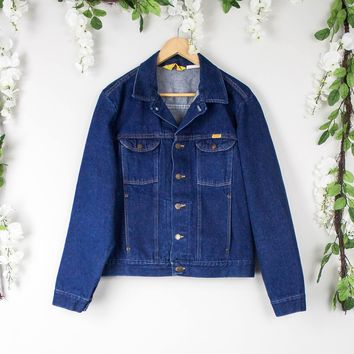 Vintage Denim Dark Wash Jacket