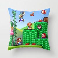 Super Mario 2 Throw Pillow by Likelikes