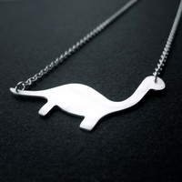 Diplodocus the friendly dinosaur necklace by OrangeSherbet1