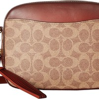 COACH Womens Camera Bag in Coated Canvas Signature