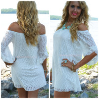 SZ XL Rockaway Beach Ivory Lace Shift Dress
