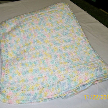 Crochet Baby Blanket, Lap Blanket, Throw Blanket, Baby Bedding, Handmade Gift, Infant Blanket, Stroller Blanket, Baby Shower Gift, Afghan