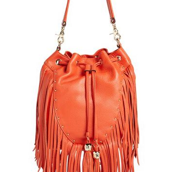 Women's Dolce Vita 'Amber' Fringe Leather Backpack