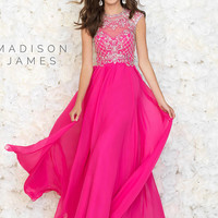 Illusion Neckline Madison James Prom Dress 15-176