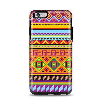 The Vector Gold & Purple Aztec Pattern V32 Apple iPhone 6 Plus Otterbox Symmetry Case Skin Set