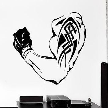 Wall Stcker Sport Bodybuilding Muscle Tattoo Vinyl Decal Unique Gift (z3071)