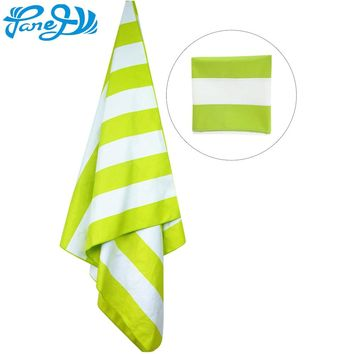 Adult Kids Microfiber Striped Printed Beach Towel Quick Dry Non-stick Sand Outdoor Travel Swim Sports Lightweight Bath Towel