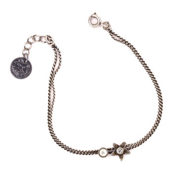 Flower Double Chain Bracelet by Eric et Lydie