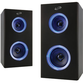 Ilive Dual Bluetooth Speakers With Leds