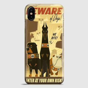 Retro Vintage Poster Disney iPhone X Case