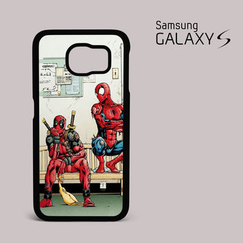 Funny Spiderman and Deadpool Samsung Galaxy S Case