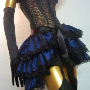 Burlesque bustle skirt costume ideas blue pageant queen gothic clothes