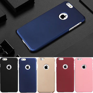 Luxury Matte Rubber Hard Slim PC Frosted Phone Cases For iphone 6 6s 7 plus iphone7 Cover coque -Girllove100