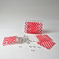Red Heart Ziplock 2 Inch Bags for Packaging Favors and Small Parts