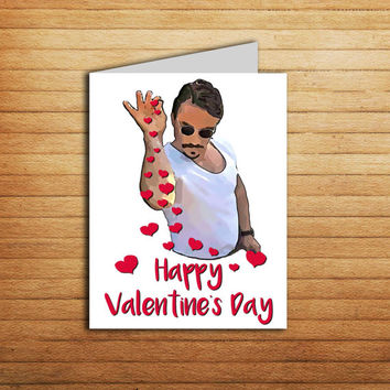 Salt Bae Valentine Card Printable Funny Internet Sensation Memes Anniversary Love Card for Girlfriend or Boyfriend gift Sprinkle Sexy Chef