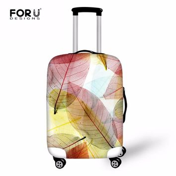 FORUDESIGNS Leaf Luggage Cover Protective Suitcase Flowers Elastic Travel Case Cover For Trolley Trunk With Zipper Accessories