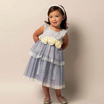 Flower Girl Dress Pattern, Flower Girl Dress, Pageant Dress, New Butterick 5843 Pattern, 3T 4T 5T 6, Girls Dresses, Girls Dress Pattern