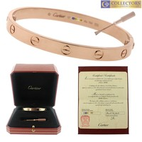 One-nice? MINT Ladies 2017 Cartier LOVE Screw Size 17 18K Rose Pink Gold Bangle Bracel