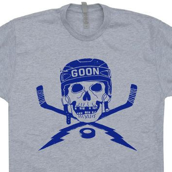 Hockey T Shirt Hockey Mask T Shirt Vintage Hockey T Shirt Hockey Skull