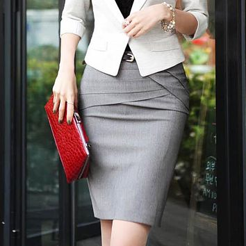 new Fashion Women Office Formal Pencil Skirt size sml