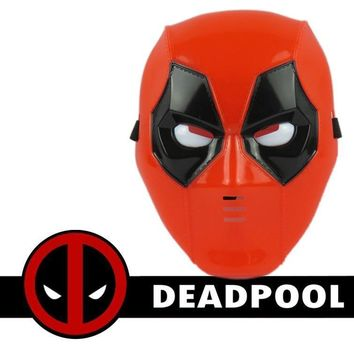 Deadpool Dead pool Taco New Anime X-men Toy Plastic Flashing  Mask Costume Cosplay Halloween Model Toy For Kids Adult AT_70_6