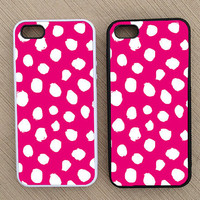 Cute Preppy Pink Polka Dot iPhone Case, iPhone 5 Case, iPhone 4S Case, iPhone 4 Case - SKU: 228