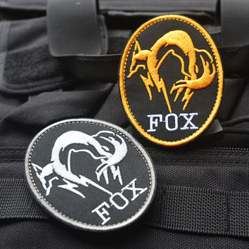 Black Metal Gear Solid MGS FOX HOUND Special Force Group Ghost Embroidered Patches