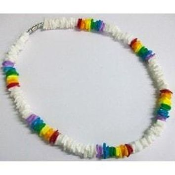 "18"" Rainbow Clam Shell Necklace"