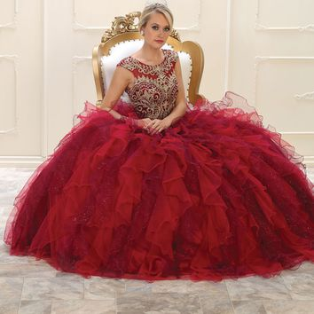Long Quinceanera Sweet 16 Dress Ball Gown