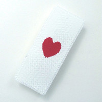 Completeness bookmark Large bookmark Fabric bookmark Whole heart embroidered by one thread Cross stitch bookmark Free shipping to everywhere