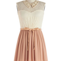 ModCloth Short Sleeveless A-line Vignette Effect Dress
