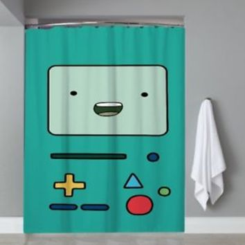 Top Famous Cartoon Adventure Time BMO Shower Curtain Limited Edition