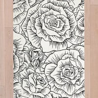 Inked Roses 3x5 Rug - Urban Outfitters