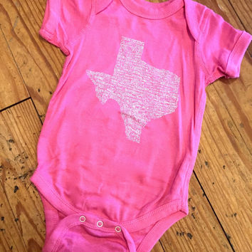 Texas Towns Onesuit- Raspberry