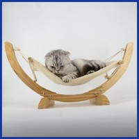 Natural Wooden Handmade Cat Bed Cat Hammock Cradle Mat Swing Cat Bed Puppy Blanket Pet Bed Pet Product Cat Toy Sleeping Hammock
