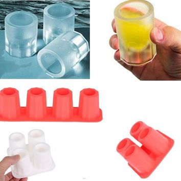 4 Grid Ice Mold Kitchen Gadgets Ice Cube Tray Mold Ice Mould Fits For Bigger Ice Cream Markers Tools