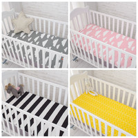 Muslinlife Cotton Baby Fitted Sheet Cartoon Crib Mattress Protector,baby bed sheet for crib size(130*70/120*60/120*65cm)