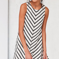 Cooperative Mitered Striped Swing Dress | Urban Outfitters