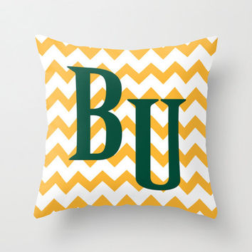 Baylor Pillow Cover Graduation BU Throw Pillow Zipper Double Sided Custom Gift Convert ANY Print TRM Design 16x16 18x18 20x20 26x26