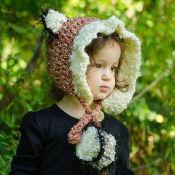 Fox Hat, Hood Style Fox Hat for Kids, Super Soft and Cozy Warm Hood, Who Loves Foxes? Winter Hood, Great for Costumes, Fall Fox Hat