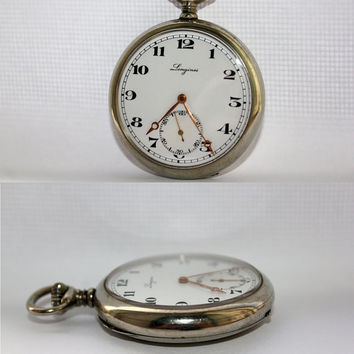 Vintage Swiss Longines Pocket Watch 1920 Excellent Condition