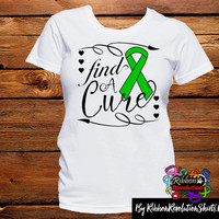 Green Ribbon Find A Cure Shirts (Adrenal Cancer, Bile Duct Cancer, Cerebral Palsy, Gastroparesis, Mitochondrial Disease, Neurofibromatosis)