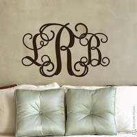 Entwine Monogram Wall Decal 185 x 30 by CLINGeverything on Etsy